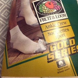 RARE Vintage NWT 1997 Men's Cotton Ankle Socks.